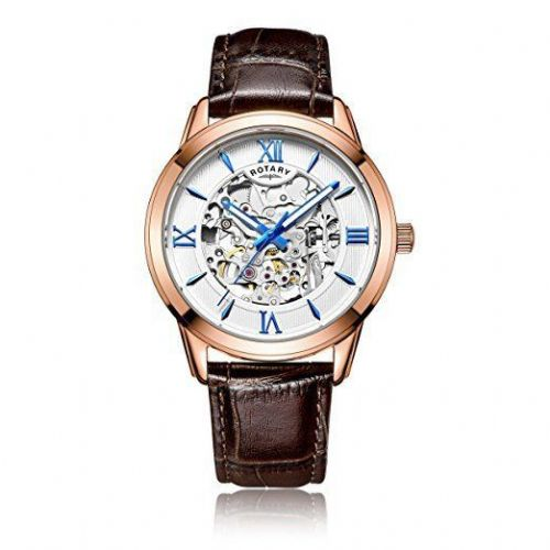 ROTARY Skeleton Rose Gold Automatic Gents Watch GS00653/21